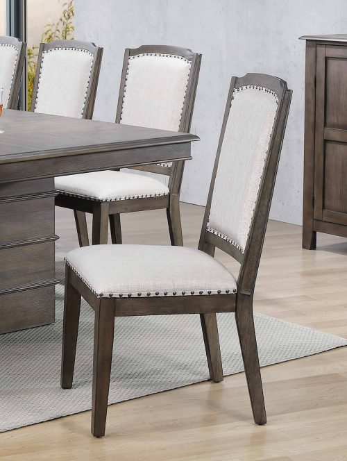 """Cali Dining Collection - 41"""" H upholstered dining chair - dining table setting - DLU-CA-C113-2"""