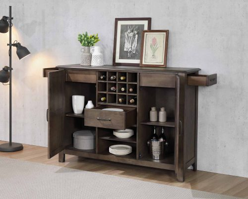 Cali Dining Collection - Server and wine storage - dining room setting - DLU-CA113-SR