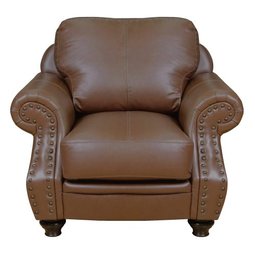 Charleston Chair in Chestnut. Front view-SU-CR2130-86-100LF