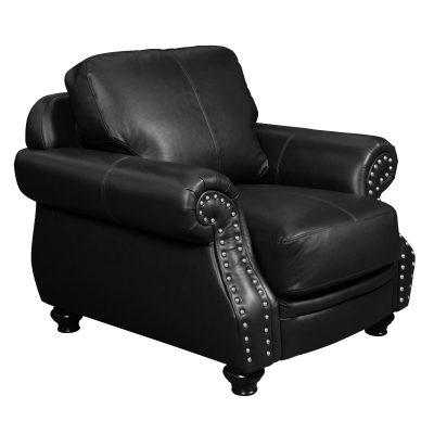 Charleston Chair in Black. Angled view-SU-CR2130-80-100LF