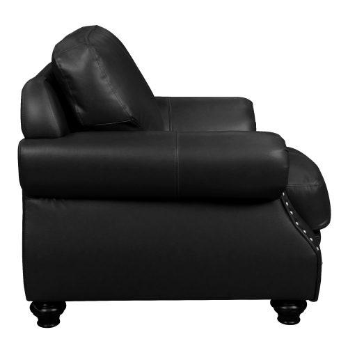 Charleston Chair in Black- Side view-SU-CR2130-80-100LF