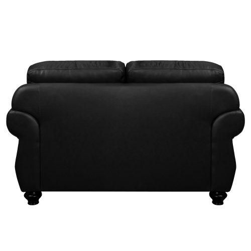 Charleston Loveseat in Black. Back view-SU-CR2130-80-200LF