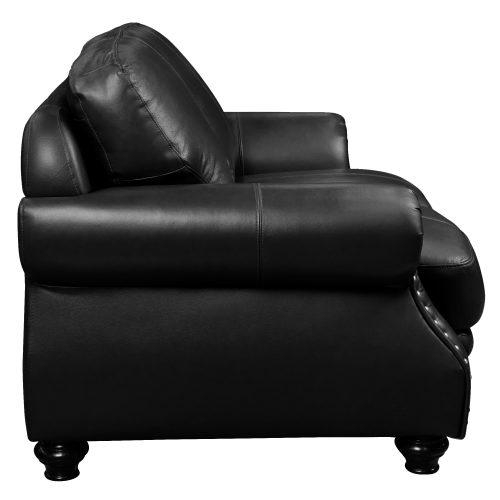 Charleston Loveseat in Black. Side view-SU-CR2130-80-200LF