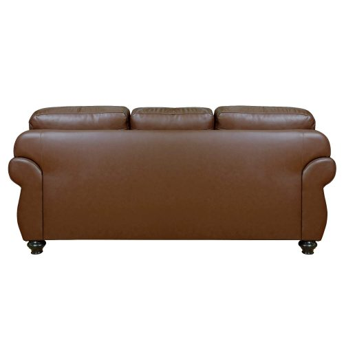 Charleston Sofa in Chestnut. Back view-SU-CR2130-86-300LF