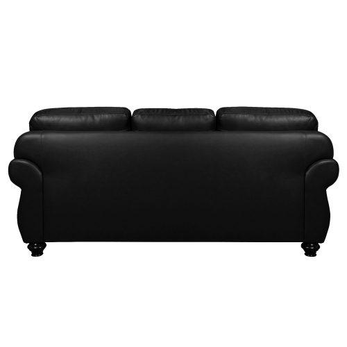Charleston Sofa in Black. Back view-SU-CR2130-80-300LF