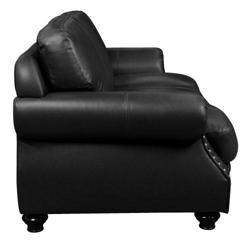 Charleston Sofa in Black. Side view-SU-CR2130-80-300LF