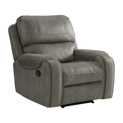 Calvin Motion Recliner in Grey. Angled view SU-CL23004100-107