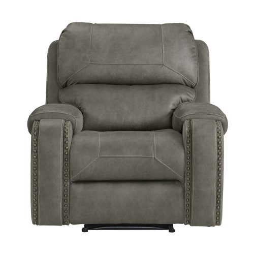 Calvin Motion Recliner in Grey. Front view SU-CL23004100-107