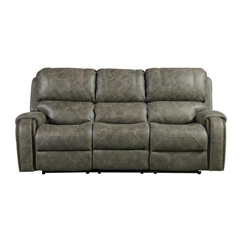Calvin Motion Sofa in Grey. Front view SU-CL23004100-305