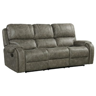 Clayton Motion Sofa in Grey. Angled view SU-CL23004100-305