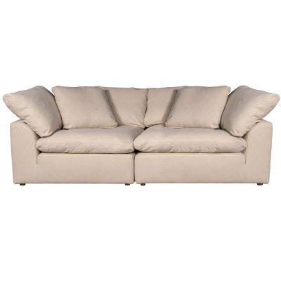 Cloud Puff 2-piece slipcovered modular sectional sofa SU-1458-84-2C