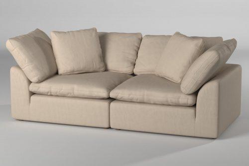 Cloud Puff 2-piece slipcovered modular sectional sofa room setting SU-1458-84-2C