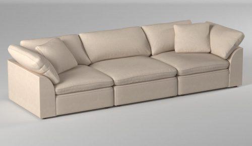 Cloud Puff 3-piece slipcovered modular sectional sofa room settingSU-1458-84-2C-1A