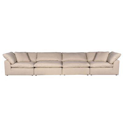 Cloud Puff 4-piece slipcovered modular sectional sofa SU-1458-84-2C-2A