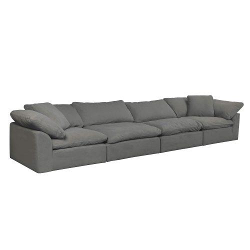 Cloud Puff 4-piece slipcovered modular sectional sofa SU-1458-94-2C-2A