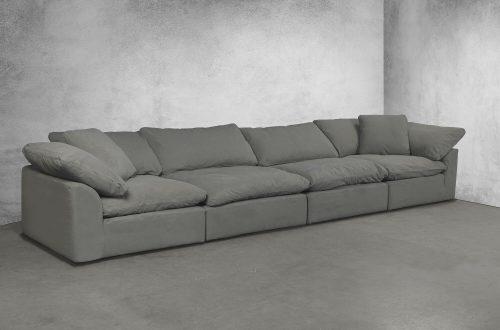 Cloud Puff 4-piece slipcovered modular sectional sofa room setting SU-1458-94-2C-2A
