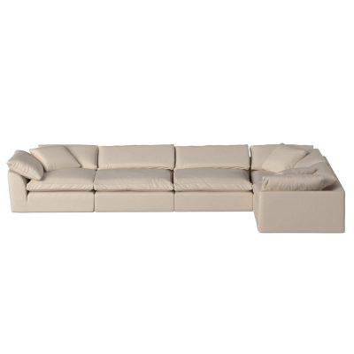 Cloud Puff 5-piece slipcovered sectional sofa SU-1458-84-3C-2A