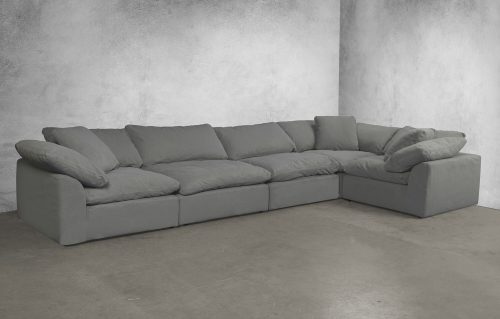 Cloud Puff 5-piece slipcovered sectional sofa room setting SU-1458-94-3C-2A