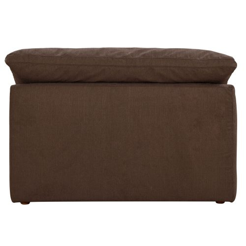 Cloud Puff Collection - Armless Chair Modular Sofa Sectional - back view SU-145837-391088