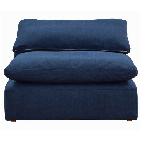Cloud Puff Collection Armless Chair Modular Sofa Sectional - front view SU-145837-391049