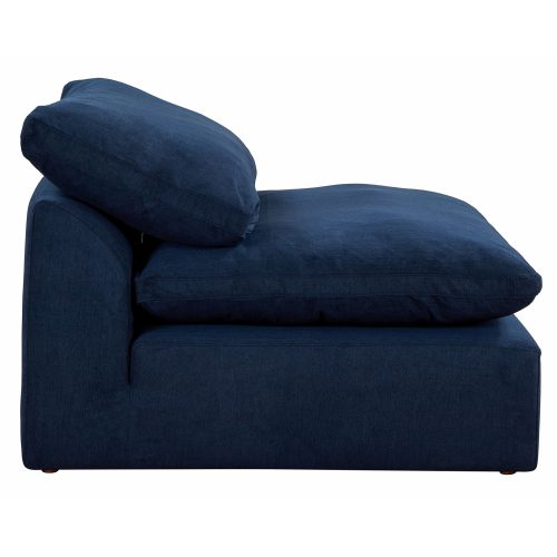 Cloud Puff Collection Armless Chair Modular Sofa Sectional - side view SU-145837-391049