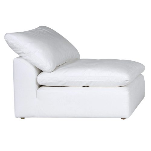 Cloud Puff Collection Armless Chair Modular Sofa Sectional - side view SU-145837-391081