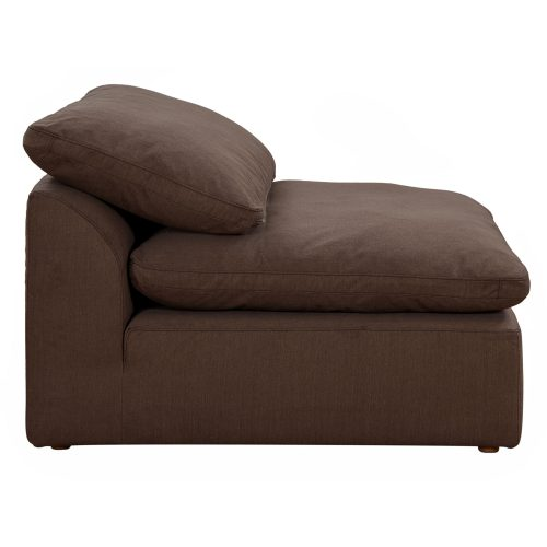 Cloud Puff Collection - Armless Chair Modular Sofa Sectional - side view SU-145837-391088