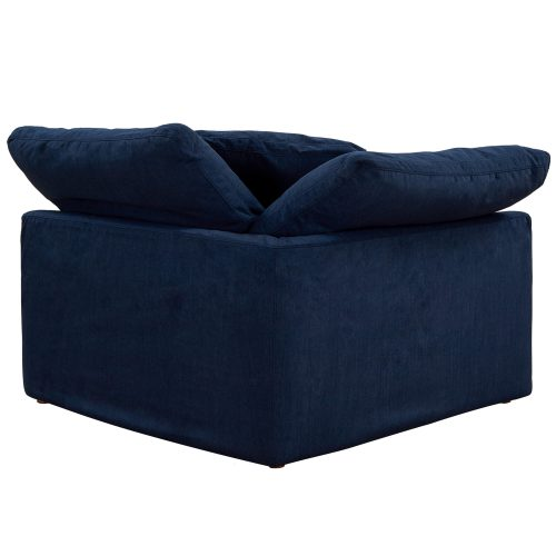 Cloud Puff Collection - Slipcovered sectional armchair modular corner sofa - back view SU-145851-391049