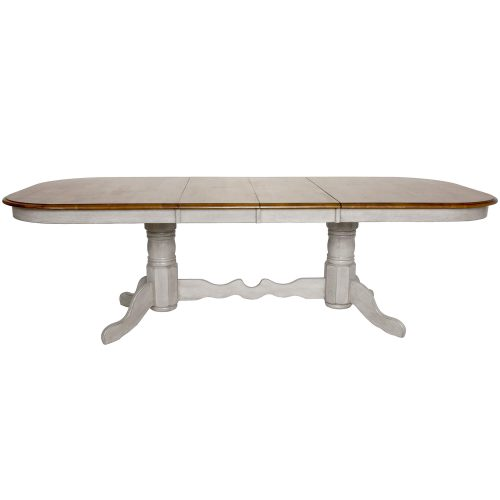 Country Grove Collection - Double Pedestal Extendable Dining Table with butterfly leafs in DLU-CG4296-GO