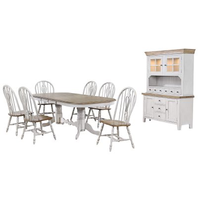 Country Grove Collection - Eight-piece dining set DLU-CG4296-124SGOBH8