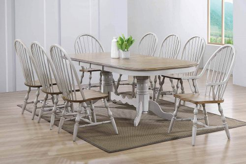 Country Grove Collection - Nine-piece dining set in dining room setting DLU-CG4296-30AGO9