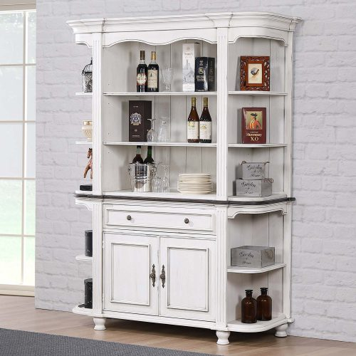 French Chic - buffet and hutch - dining room setting - DLU-FC-BH