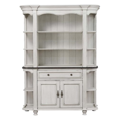 French Chic - buffet and hutch - front view - DLU-FC-BH