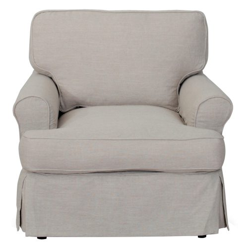 Horizon Slipcovered Collection - Padded Chair - front view SU-117620-220591