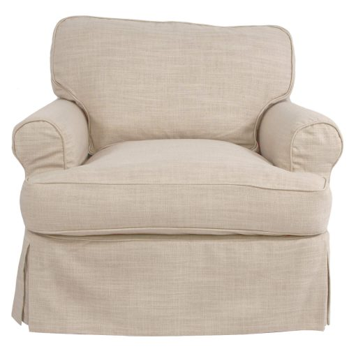 Horizon Slipcovered Collection - Padded Chair - front view SU-117620-466082