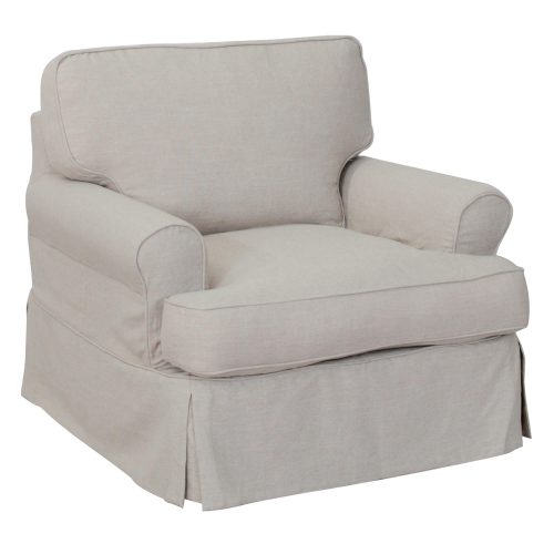 Horizon Slipcovered Collection - Padded Chair - three-quarter view SU-117620-220591