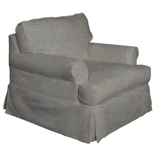 Horizon Slipcovered Collection - Padded Chair - three-quarter view SU-117620-391094