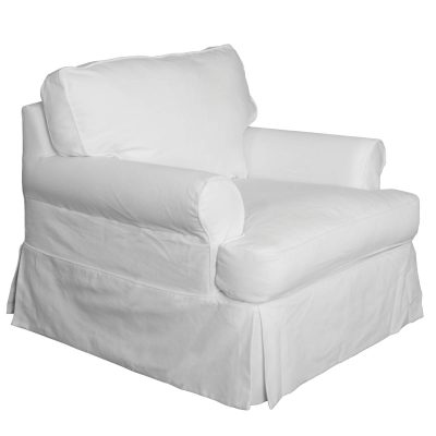 Horizon Slipcovered Collection - Padded Chair - three-quarter view SU-117620-423080