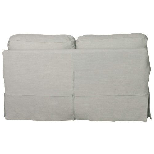 Horizon Slipcovered Collection - Padded Loveseat - back view SU-117610-220591
