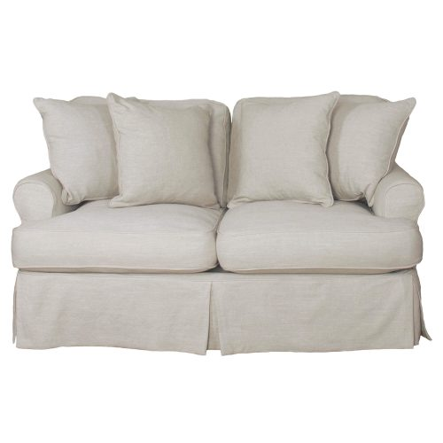 Horizon Slipcovered Collection - Padded Loveseat - front view SU-117610-220591