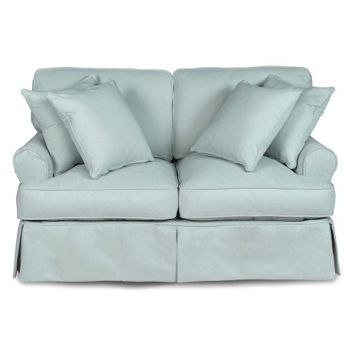 Horizon Slipcovered Collection - Padded Loveseat - front view SU-117610-391043