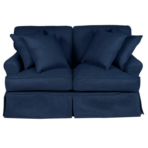 Horizon Slipcovered Collection - Padded Loveseat - front view SU-117610-391049
