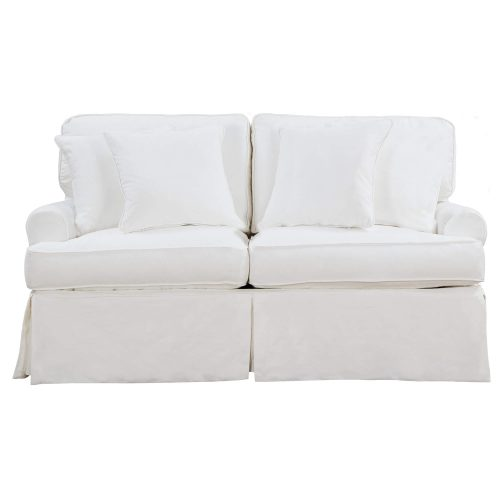 Horizon Slipcovered Collection - Padded Loveseat - front view SU-117610-391081