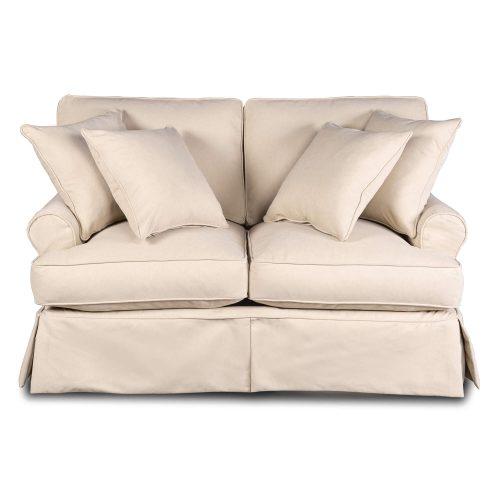Horizon Slipcovered Collection - Padded Loveseat - front view SU-117610-391084