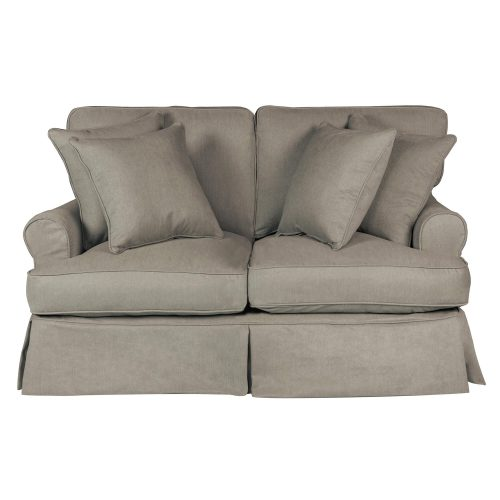Horizon Slipcovered Collection - Padded Loveseat - front view SU-117610-391094