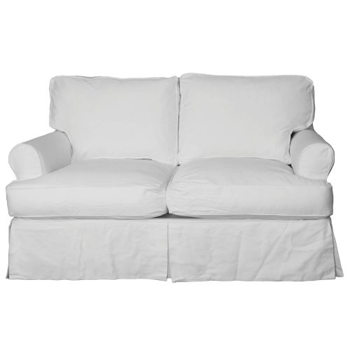 Horizon Slipcovered Collection - Padded Loveseat - front view SU-117610-423080