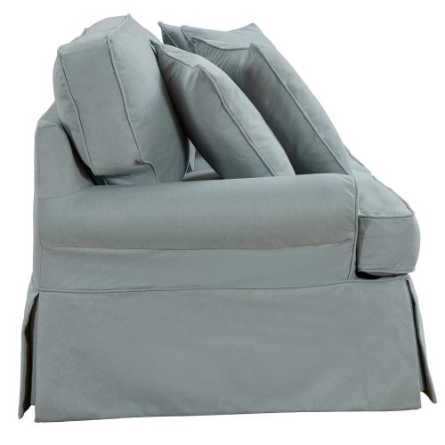Horizon Slipcovered Collection - Padded Loveseat - side view SU-117610-391043