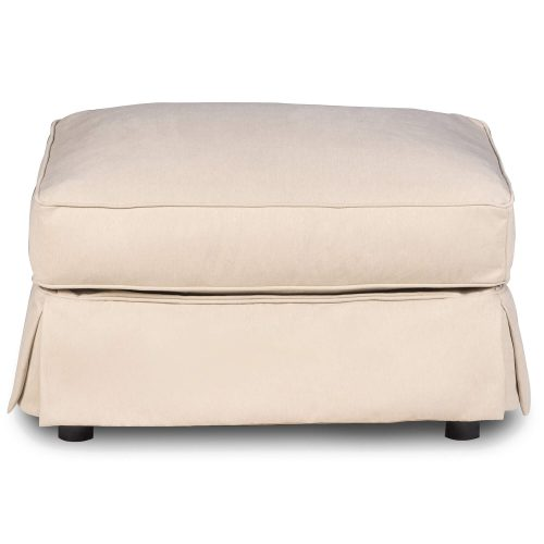 Horizon Slipcovered Collection - Padded Ottoman - Front view SU-117630-391084