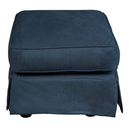 Horizon Slipcovered Collection - Padded Ottoman - Side view SU-117630-391049