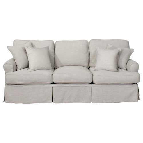 Horizon Slipcovered Collection - Padded Sofa - front view SU-117600-220591